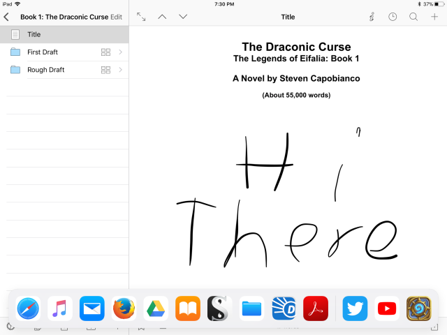 IPad plus writing