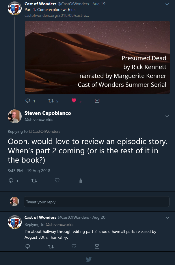 Screenshot_2018-08-23 Steven Capobianco on Twitter Oooh, would love to review an episodic story When_s part 2 coming (or is[...]